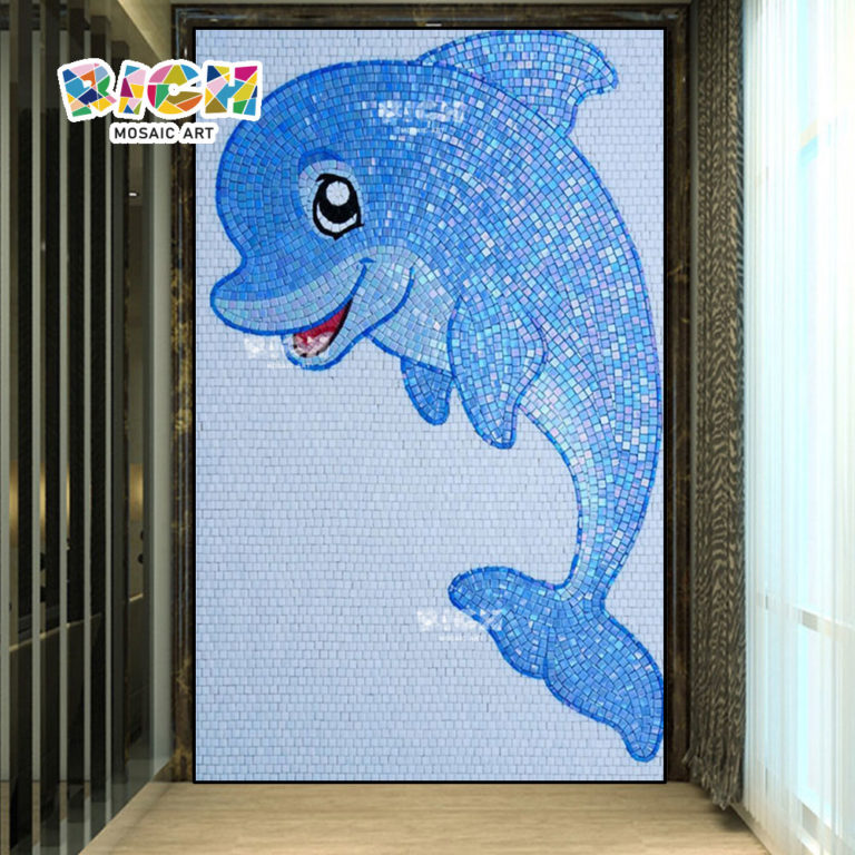RM-AN28 Dolphin Patrón pared piscina vestidor decorar mosaico