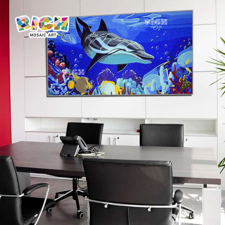 RM-AN29 Ocean World Dolphin Pattern Meeting Room Mosaic Art
