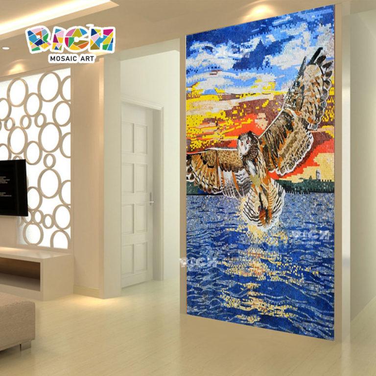 RM-AN30 especial da suspensão de parede coruja noturna do mosaico Mural