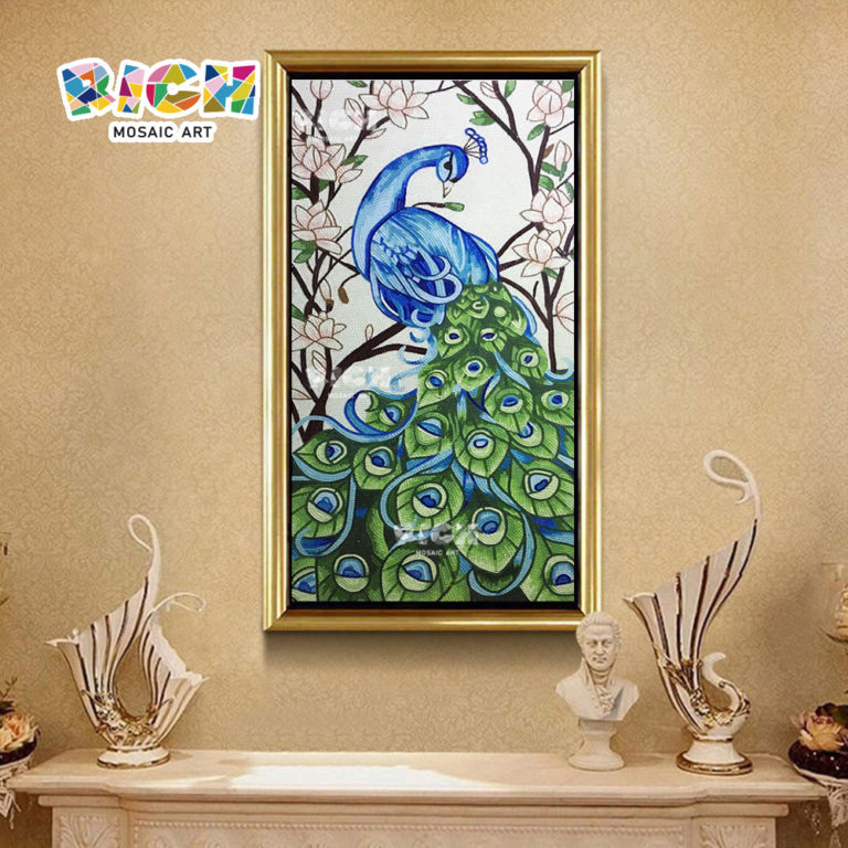 RM-AN35 Peacock Glass Pattern Mosaic Factory Outlet