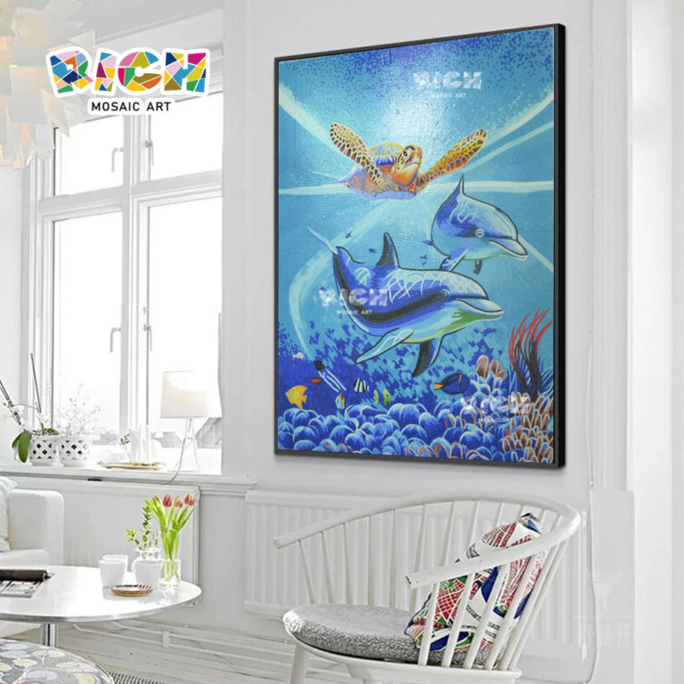 RM-AN38 Handcraft Mosaic Hanging Ocean World Design Mural