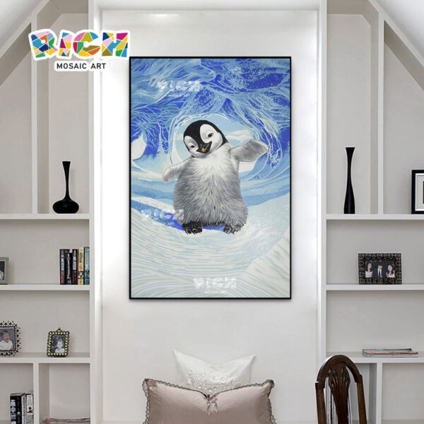 RM-AN42 Penguin Dance Child Bedroom Excellent Mosaic Mural