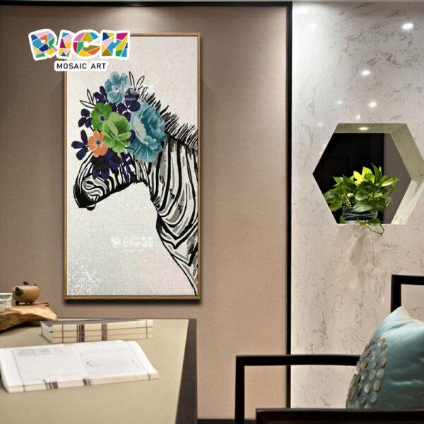 RM-AN45 Creative zebra casa decoração mosaico artwork pendurado imagem