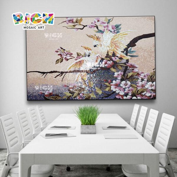 RM-AN51 Τραπεζαρία διακοσμημένα παπαγάλος μοτίβο μωσαϊκό τέχνη ζωγραφική