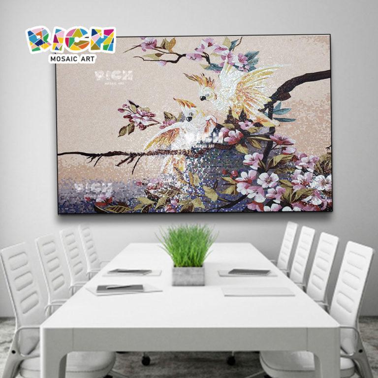 RM-AN51 sala decorada papagaio padrão mosaico arte pintura
