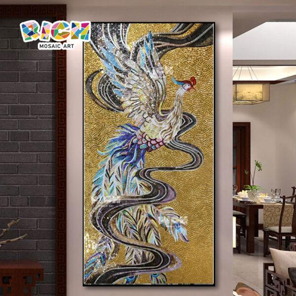 RM-AN56 Phoenix Design Noble Mosaic Art Golden Pattern Mural