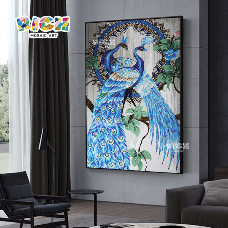 RM-AN58 Distribution Price Selling High Peacock Fine Cut Mural Pure Manual Artwork