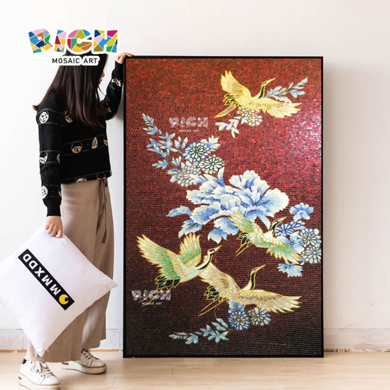 RM-AN61 Art Bird Pattern Hot Sale Handmade Mosaic Mural