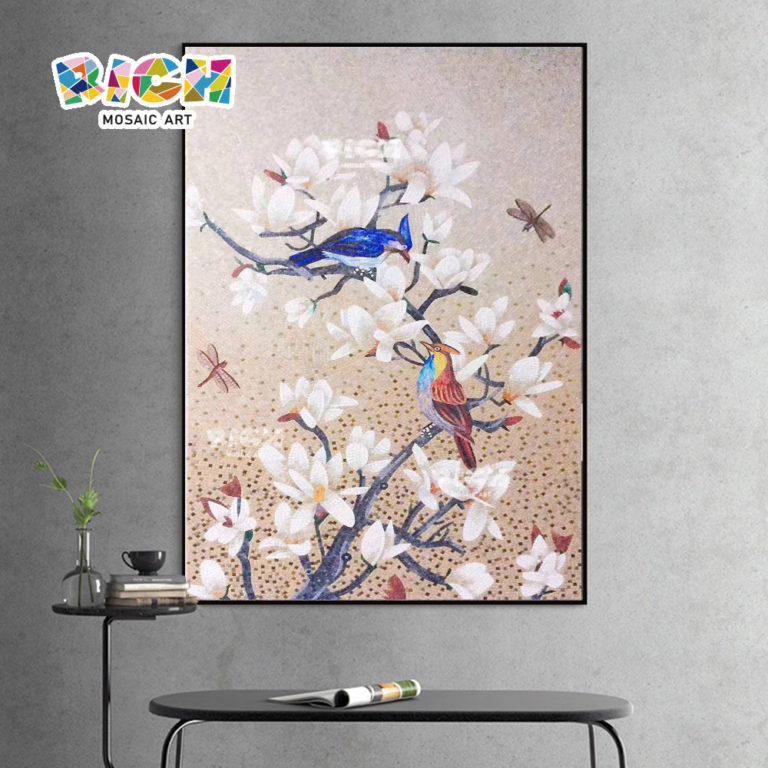 RM-AN65 Handmade Bird Mosaic Art Wall Murals Animal Hanging