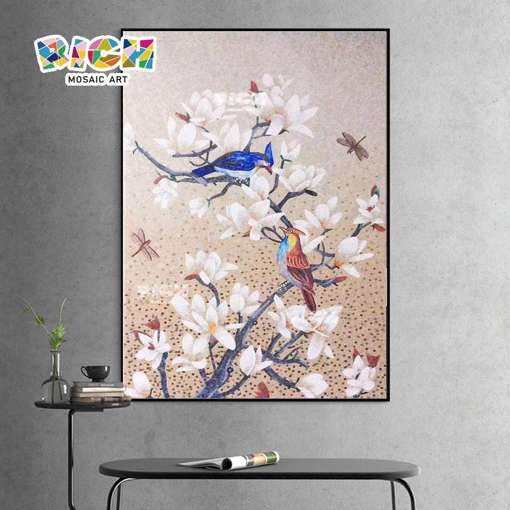 RM-AN65 Handmade Bird Mosaic Art Wall Murals Animal Hanging