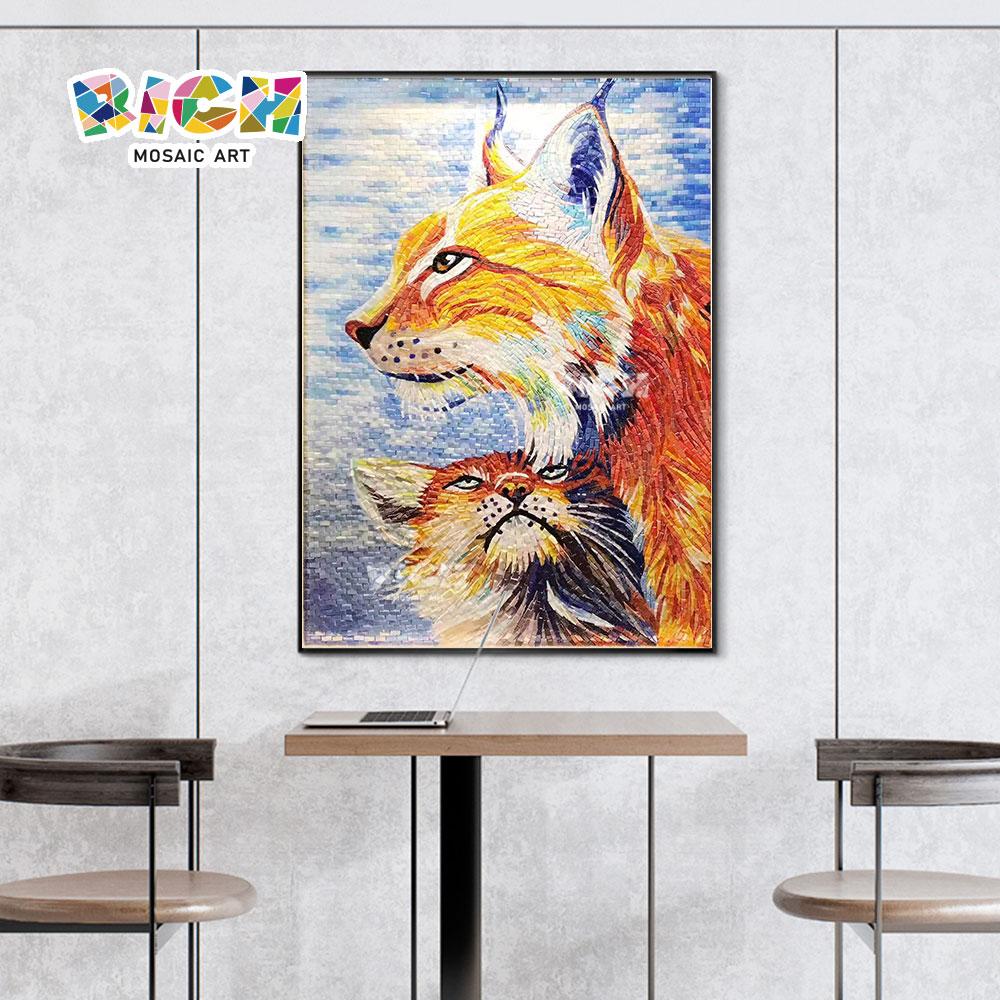 Шаблон Cat RM-AN67 100% Дутое стекло мозаика для приемных