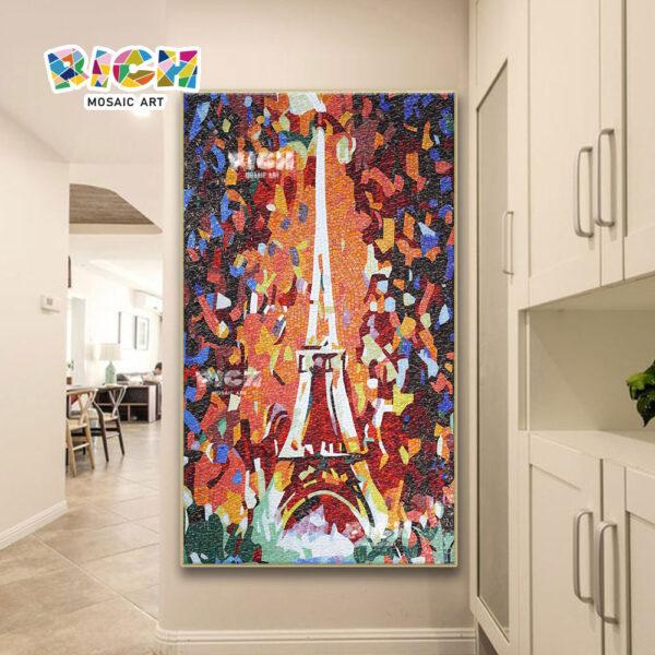 RM-AR03 tour Eiffel mosaïque Backsplash Paris Architecture peinture murale