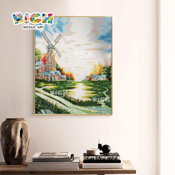 RM-AR07 Dutch Windmills Pattern Wall Hanging Mural