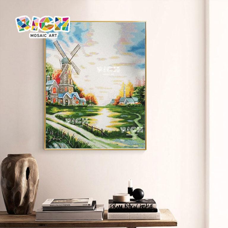RM-AR07 holländische Windmühlen Muster Wandbehang Wandbild