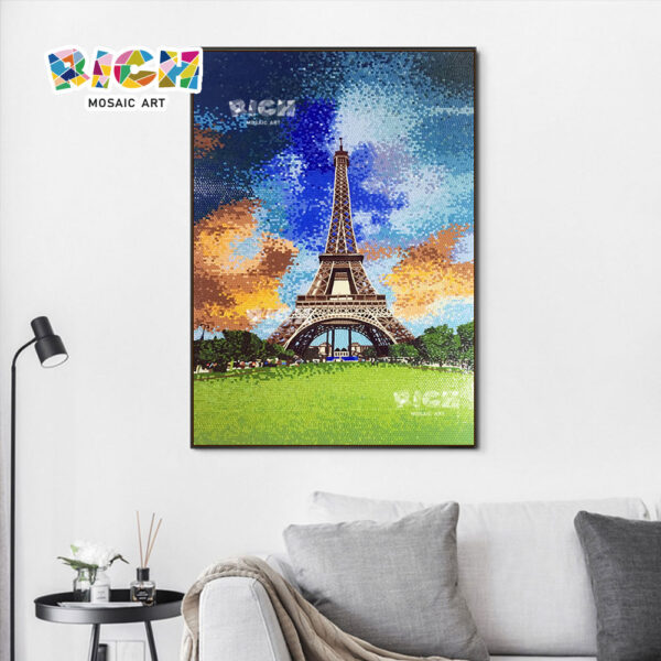 RM-AR08 Eiffel Tower Wall Glass Painting Mosaic In Good Price