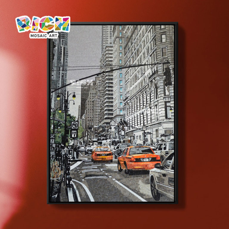 RM-AR10 улица города мозаика ручной огранки искусства росписи плитки