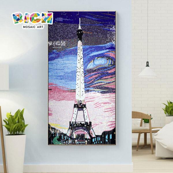 RM-AR12 Πύργος του Άιφελ Αφηρημένος ουρανός διακοσμητικός mural τοίχος