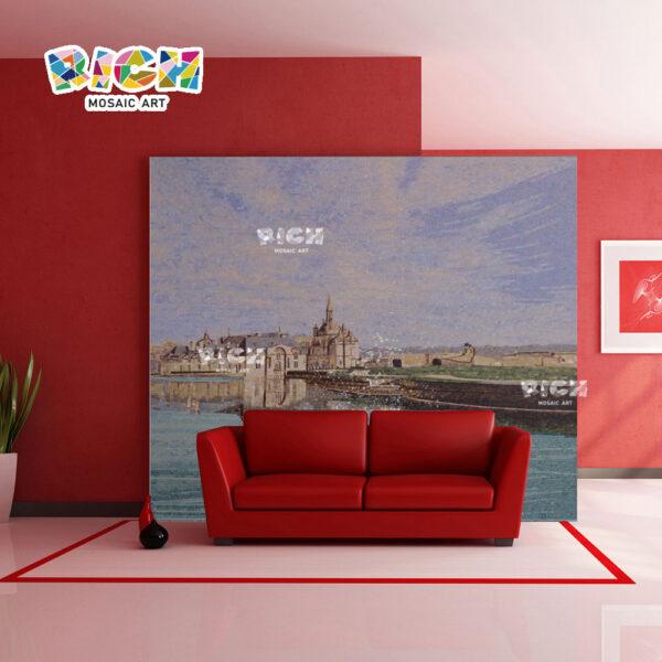 RM-AR14 καναπές backplash ιδιωτική τοιχογραφία τοίχων κτημάτων στην πώληση