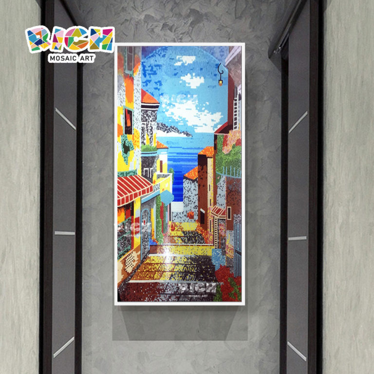 RM-AR15 Town Landscape Hanging Mosaic Pattern For Corridor