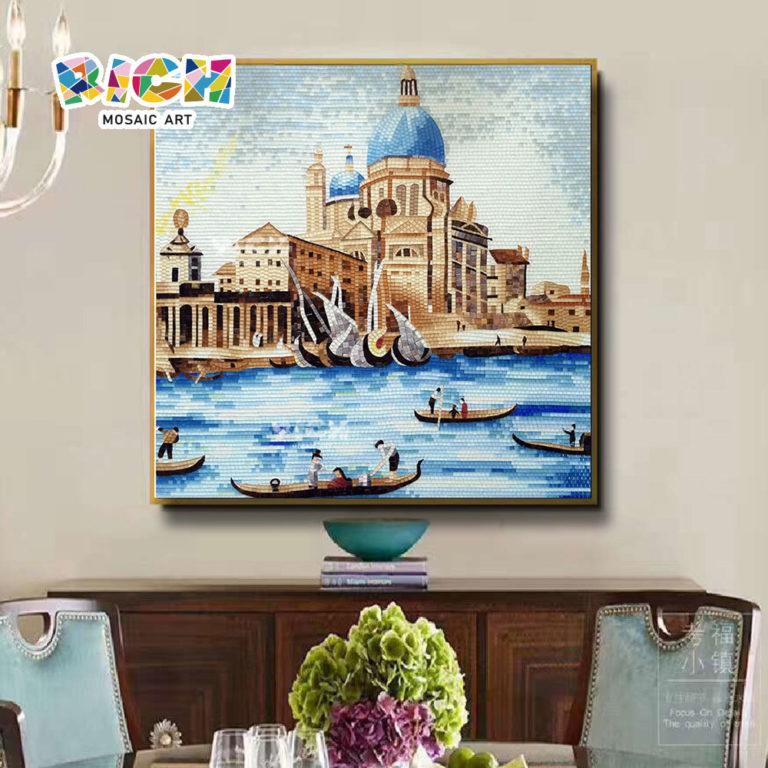 RM-AR18 Venedig Wand Mosaik Italienisch Gebäude Glas Wandbild