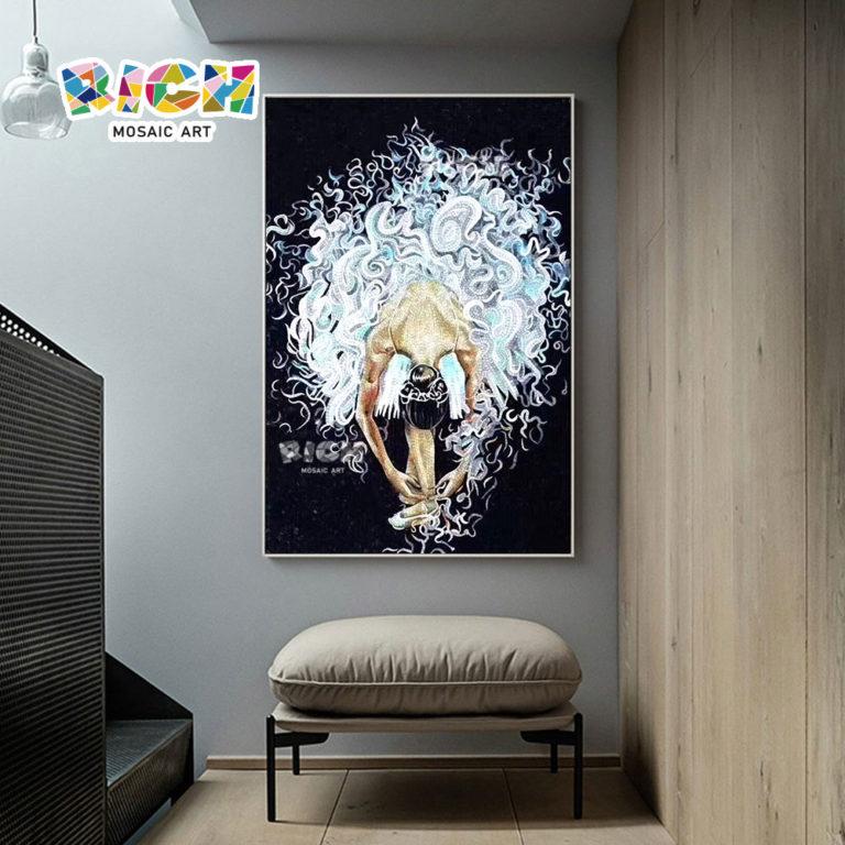 RM-FI02 Ballet Girl Corridor Corner Mosaic Picture Frame Art