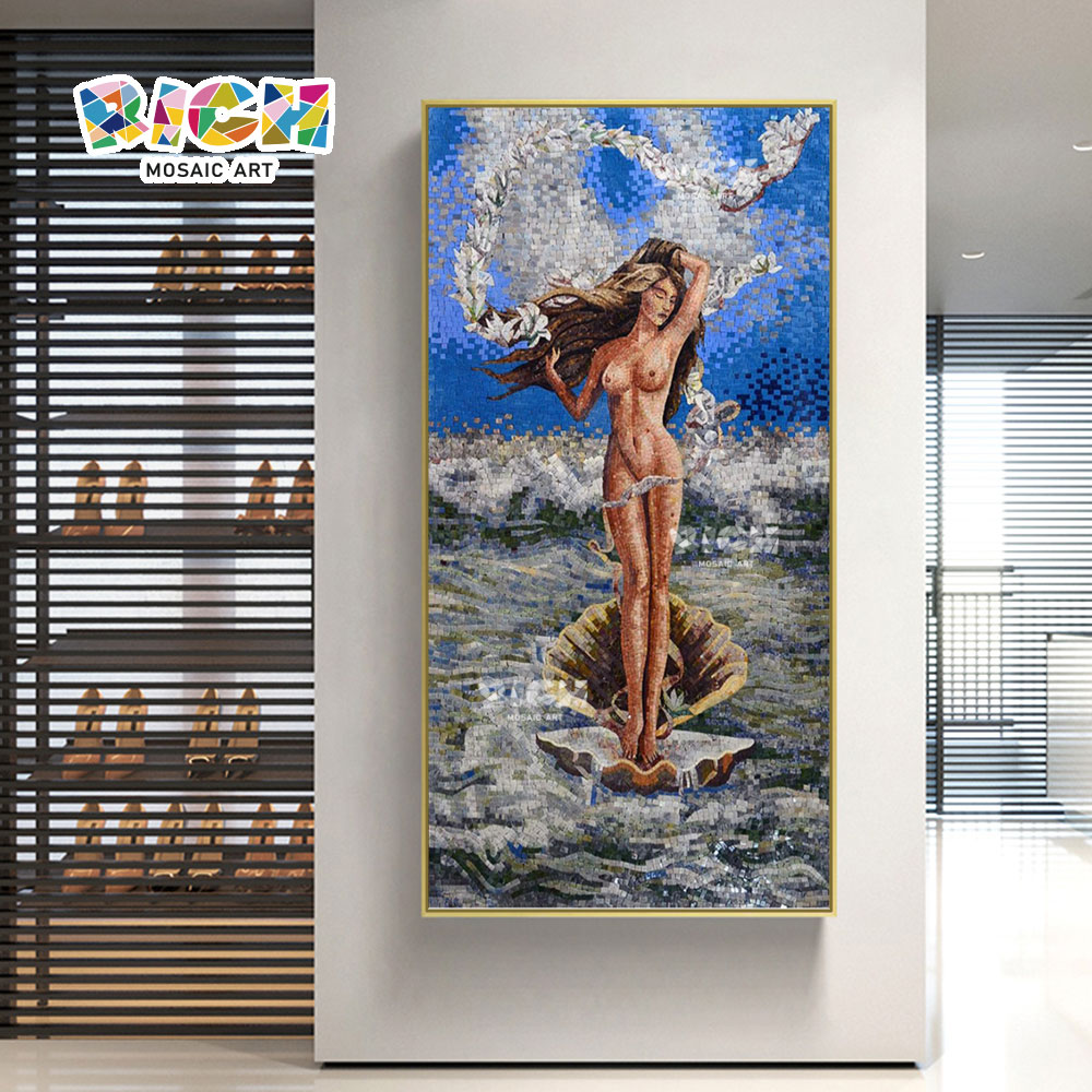 RM-FI08 Daughter Of Sea Nude Art Mosaic Wall For Bathroom
