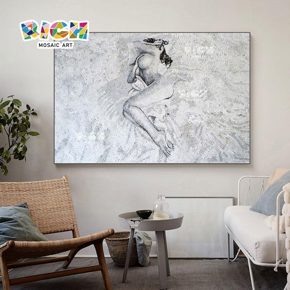 RM-FI09 mulheres nuas Sexy mosaico Art Master quarto apelo decorativo Mural