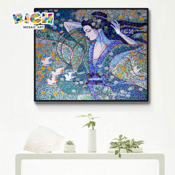 RM-FI16 Aziatische karakteristieke vrouw mozaïek Art panel