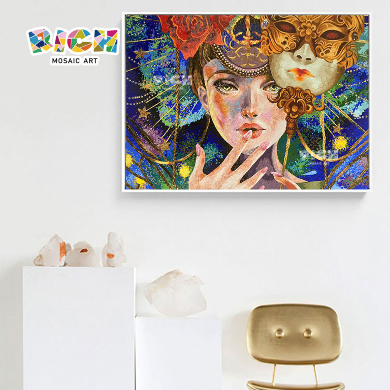 RM-FI23 Ισπανικά μάσκα κορίτσι high-end γυαλί Art Ζωγραφική
