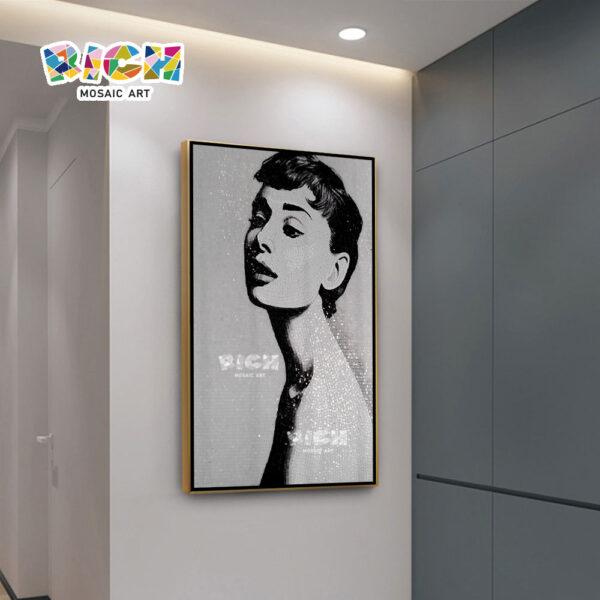 RM-FI25 Hepburn Portrait Customized Foshan Mosaic Supplier