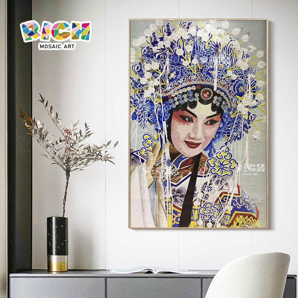 RM-FI30 senhor. Mei lanfang Peking Opera famosa artista ficar elegante mosaico