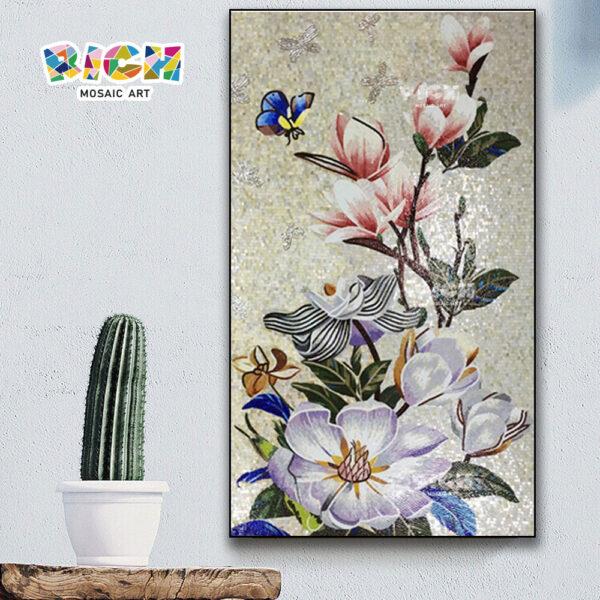 جمهورية مقدونيا-FL77 زهرة زهر فسيفساء الجدار فن اللوحة الجدارية