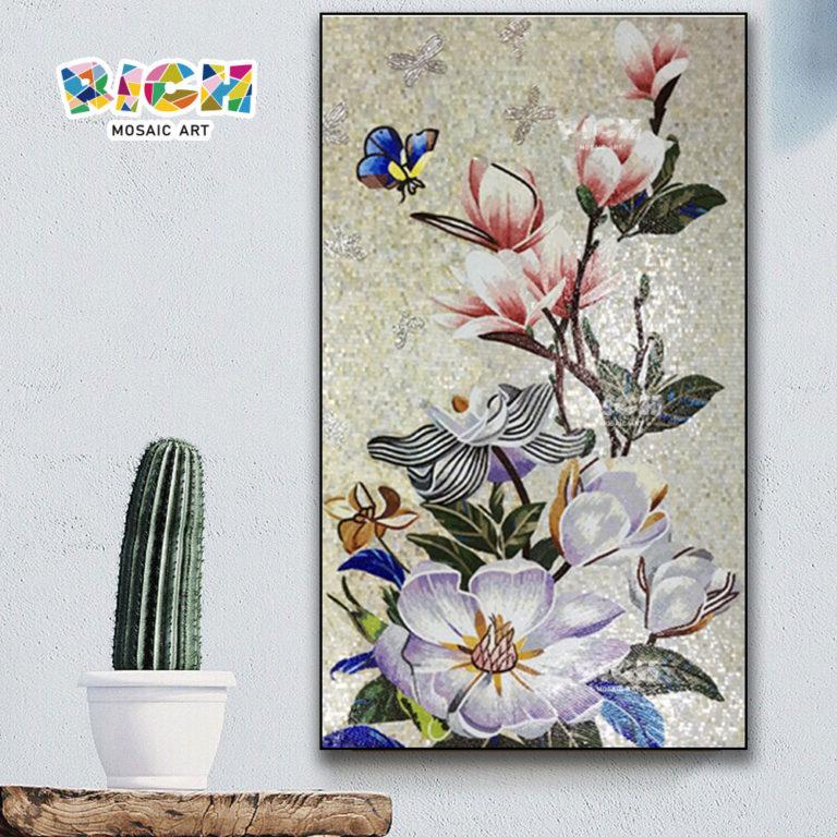 RM-FL77 flor flor mosaico parede arte Mural