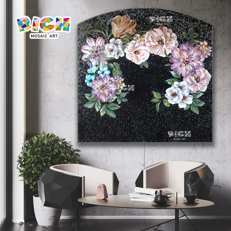 RM-FL79 Modern Unique Wall Art Decor Flower Murals