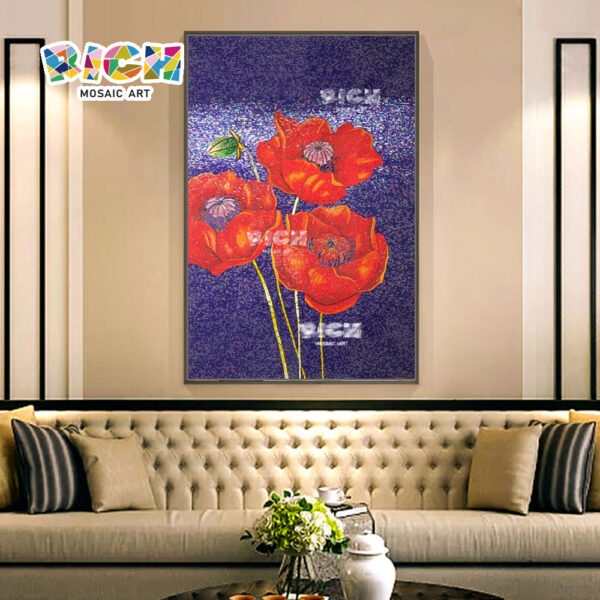 RM-FL82 λουλούδι τοίχο πλακάκια σαλόνι υψηλό τέλος μωσαϊκό τοιχογραφίες