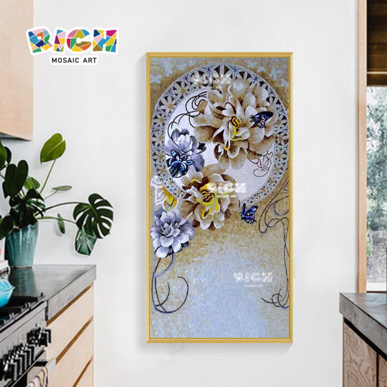 RM-FL84 Wholesale Wall Art Flower Mosaic Murals