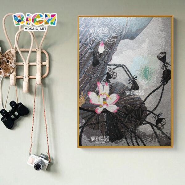 RM-FL85 fleur murales intérieur verre tuile de mosaïque Photo Slide door