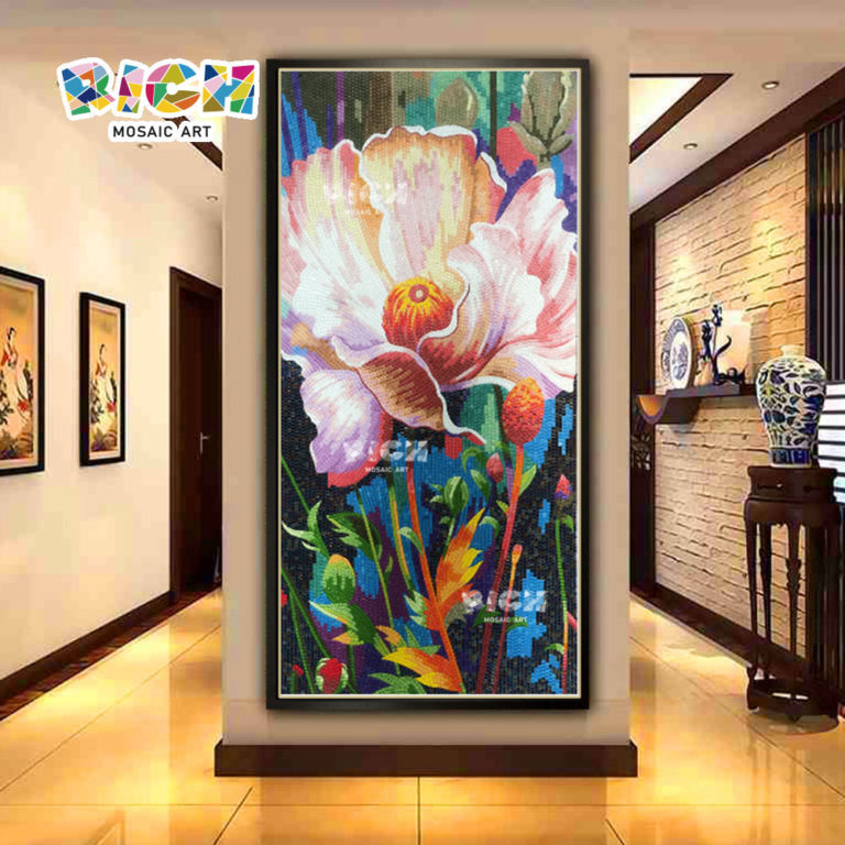 RM-FL91 Decorative Flower Mosaic Mural Patterns Wall Picture