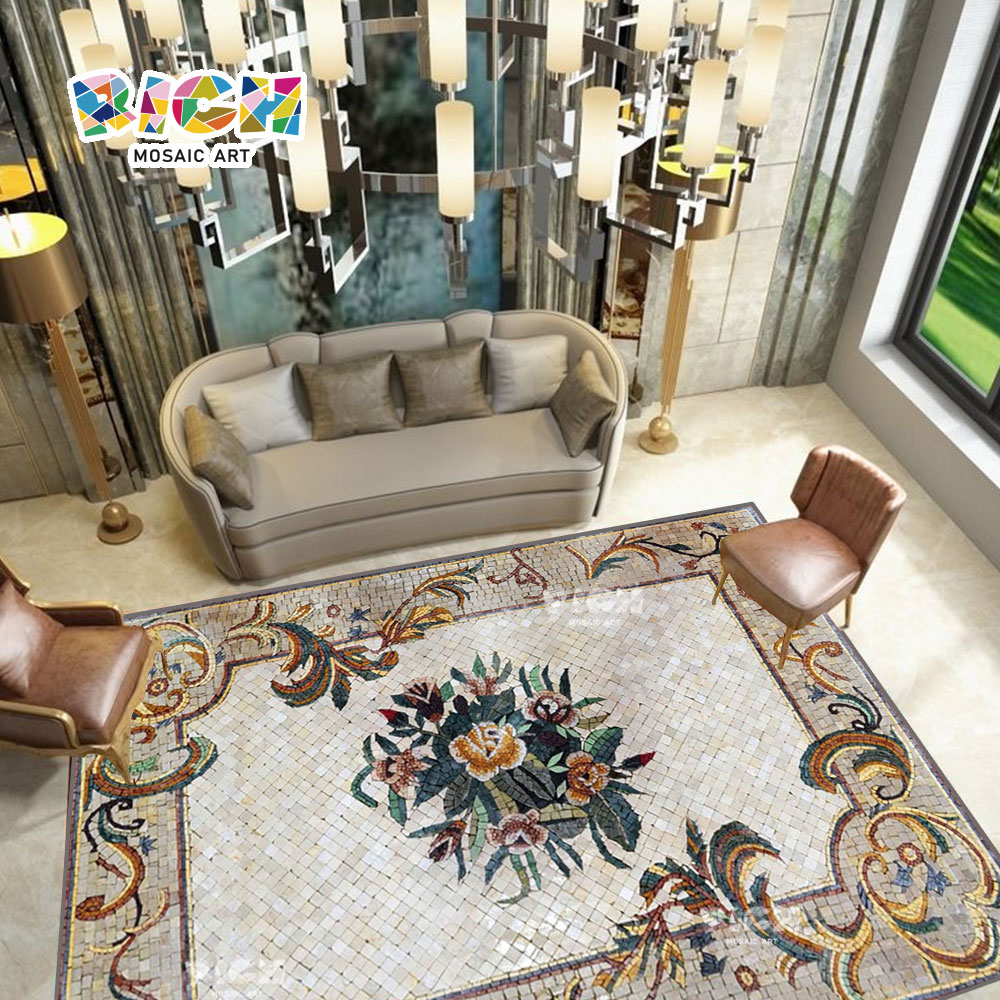 RM-FO02 medallón piso mosaico para el diseño de la Villa