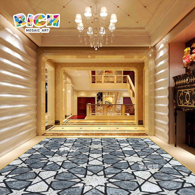 RM-FO05 sol Pierre artisanat décoration mosaïque médaillon