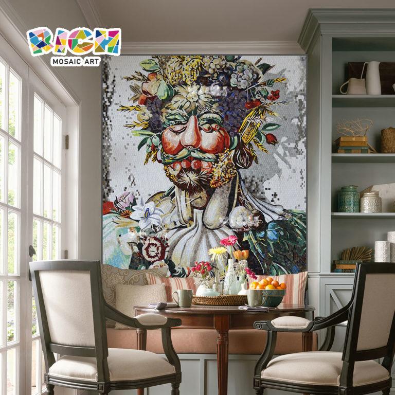 RM-IN03 fruta vieja hombre creativo comedor fondo mosaico de la pared