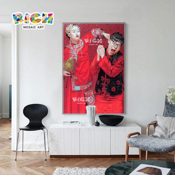 RM-IN10 boda foto diseño encantador salón mosaico pared fondo