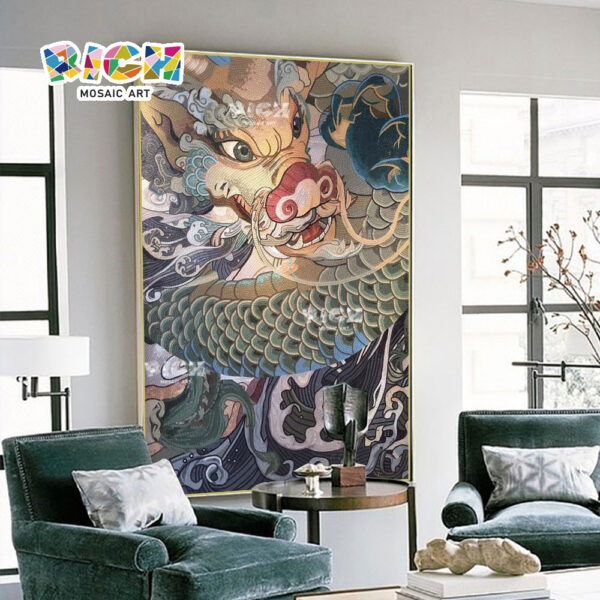 RM-IN12 Chinese Dragon Fine Manual Mosaic Art