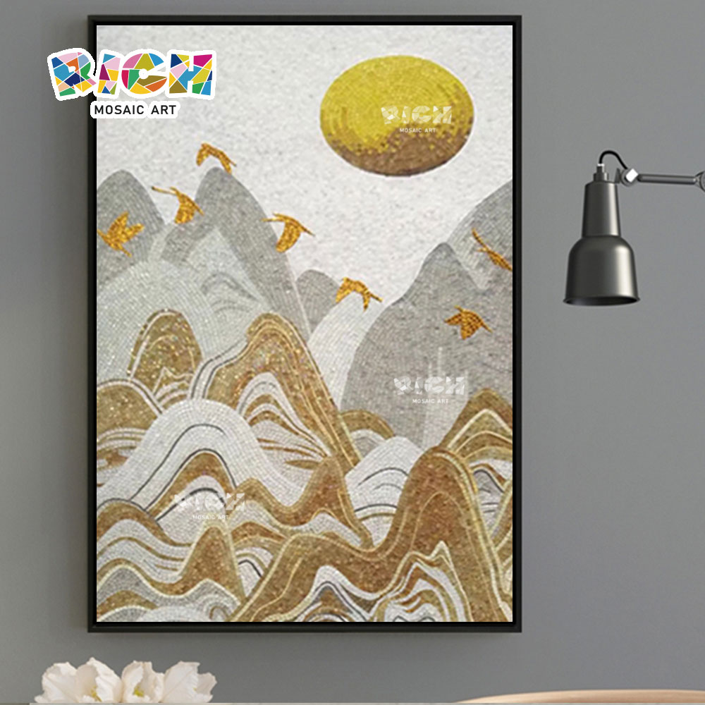 RM-IN14 Creative Landscape Pure Handmade Art Mosaic Tiles