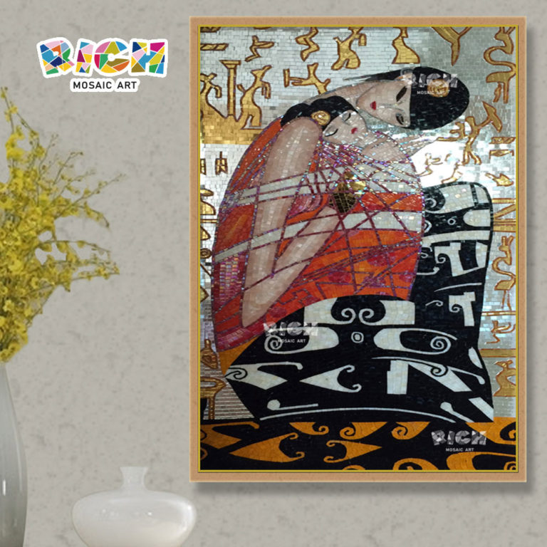 RM-IN15 Abstract Woman Mosaic Interior Decoration Wall Cut Painting
