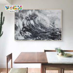 RM-IN17 Mosaic Design Wave graphique motif Original de l'artiste