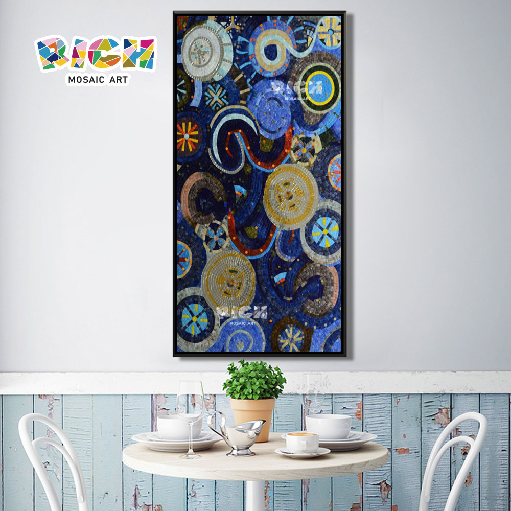 RM-IN18 Abstract Circle Restaurant Art Wall Background Mural