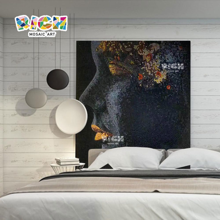 RM-IN21 Beauty Side Face Bedroom Art Cut Glass Mural