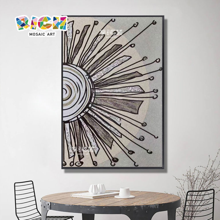 RM-IN24 Sun Design Wall Panel Dinner Room Decorate Mosaic