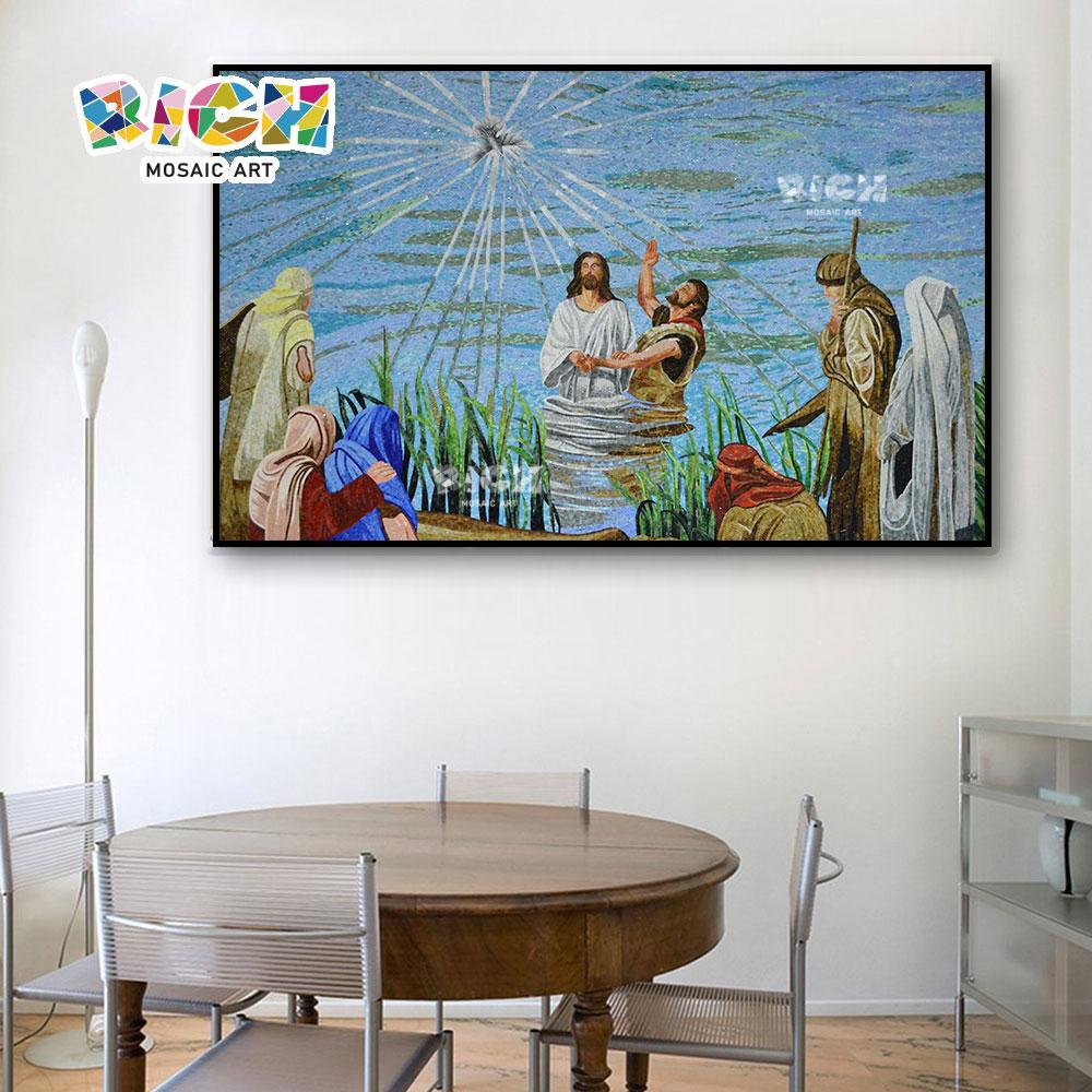 RM-RG06 Jesús río adoctrinamiento creyentes mosaico arte objetos religiosos